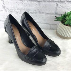 Antonio Melani Black Leather Heels